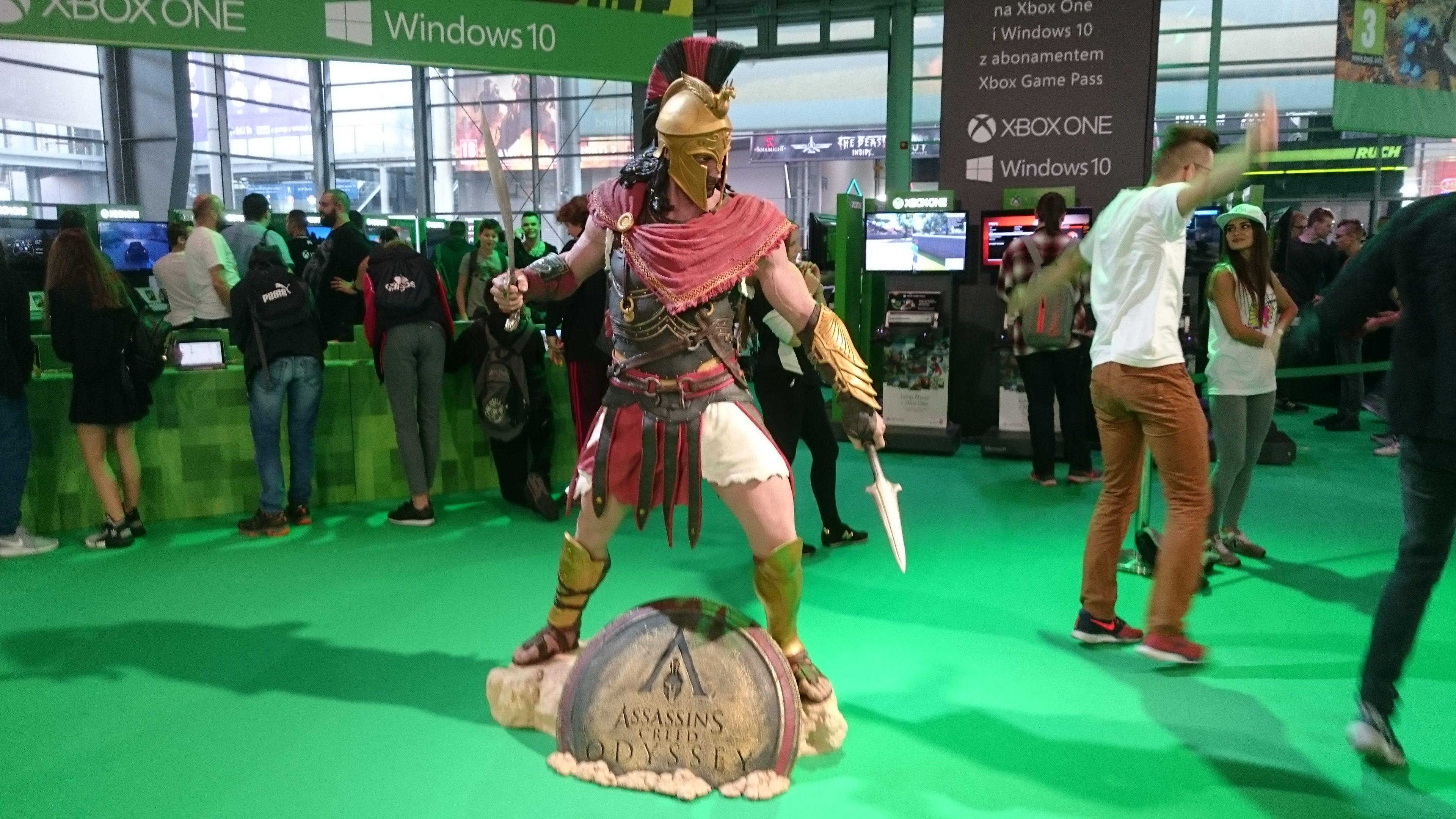 Pomnik postaci z gry Assasins Creed Odyssey