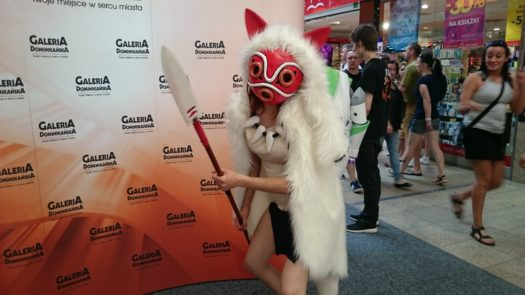 Mientowa w cosplayu jako księżniczka Mononoke podczas weekendu z cosplayerami w Galerii Dominikańskiej we Wrocławiu