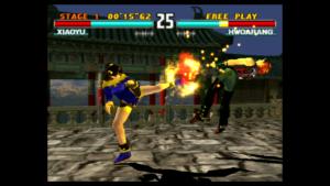 Ładna grafika w grze Tekken 3