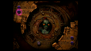 Abe obecny już na etapie menu Oddworld: Abe's Oddysee
