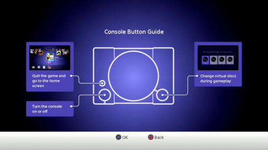 Console Button Guide dla PlayStation Classic