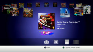 Menu główne PlayStation Classic z opcjami