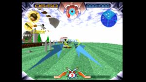Pierwszy poziom gry Jumping Flash!