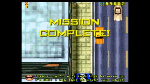 Przykładowy zrzut ekranu z rozgrywki GTA