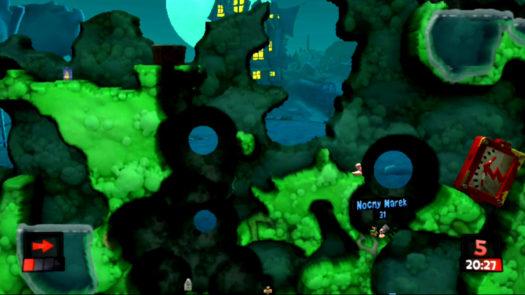 Mina wykańczająca ostatniego wrogiego robala w misji Walka o wpływy w grze Worms Revolution Extreme