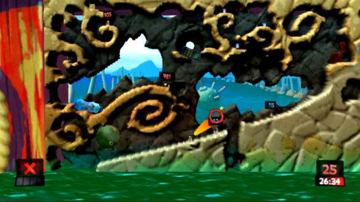 Wykorzystanie zapalniczki w 12 misji gry Worms Revolution Extreme