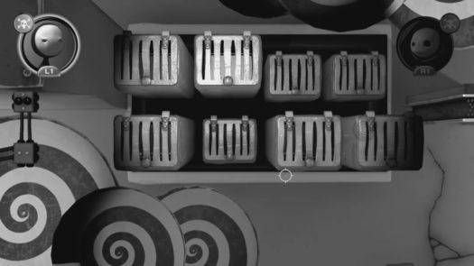 Wymagany układ skrzyń przed wciśnięciem drugiego przycisku na poziomie Hipnoza