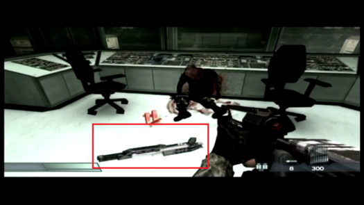 Leżąca na podłodze półautomatyczna strzelba M13 potrzebna do zdobycia trofeum One For You And One For You