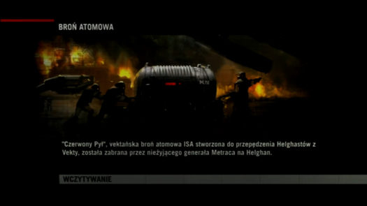 Nawiązanie w grze Killzone 2 podczas ekranu ładowania do wydarzeń z części Killzone Liberation