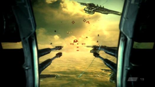 Ostrzał z działka krążownika w grze Killzone 2