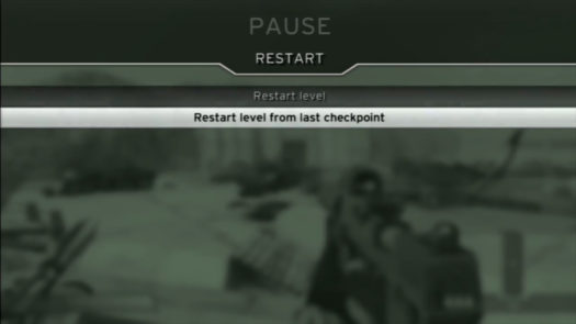 Restart level from last checkpoint