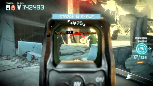 Zrzut ekranu z walki w grze Killzone: Najemnik