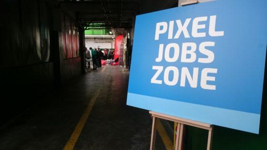 Oznaczenie PIXEL JOBS ZONE na Pixel Heaven 2019
