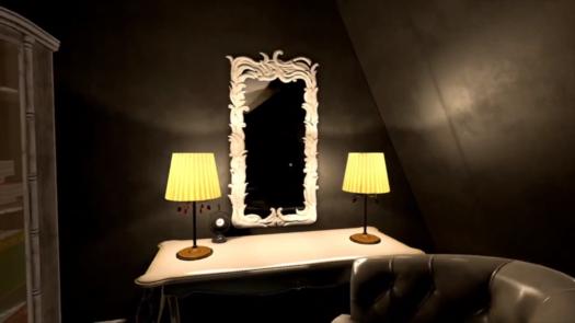 Brak odbicia głównego bohatera w lustrze w grze Bohemian Killing