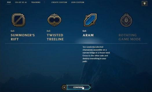 Reroll w League of Legends dostępny tylko dla trybu ARAM