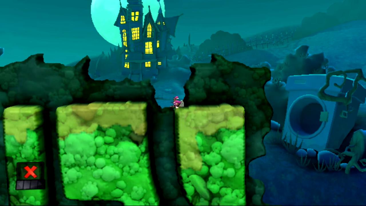 Optymalne ustawienie do użycia Staruszki w łamigłówce Wzrastajcie w spokoju (ogólnie 12 łamigłówka i 2 w motywie Strachu) w grze Worms Revolution Extreme